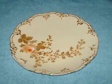 limoges G.D.&Cie plate 22 cm gilded for alfred dunn,  derby house, birmingham