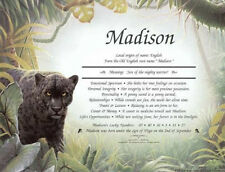 Black Panther Art Print Personalized Name Poem Prayer ~