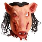 Hot Scary Demon Pig Head Mask Silicone Toys Party Halloween Theater Costume Prop
