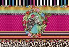Fototapete Wandbild Komar Melli Mello Zebra 8-951 Blumen Retro bunt 368 x 254 cm