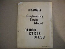 Yamaha 1975 DT100 B DT125 B DT175 B Supplementary Service Manual 6 Pages