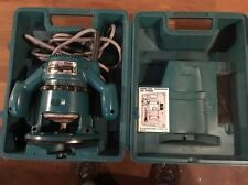 """Makita Router #3608B W/ Carrying Case Collet Wrench, & 7 Various 1/4"""" Shaft Bits"""