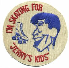 Vtg Jerry Lewis Patch MDA I'm Skating for Jerry's Kids Roller Skate NOS