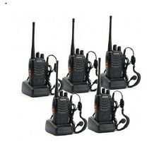 Best Walkie Talkies 2 Way Radio Portable Handheld Outdoor Hunting Fishing 5 pc