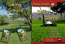 SWING SIMPLE GOLF INSTRUCTION DVD FULL SWING & SHORT GAME PUTTING CHIPPING