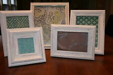 Shabby Chic Picture Frames, Set of 5 Antique White (Lot #224)