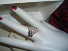Natural Gemstone Beautiful Stone Silver Ring Size 6