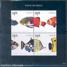 TUVALU 2013  FISH OF THE PACIFIC PART I   SHEET  MINT NH