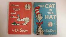The Cat In The Hat 1957 & Green Eggs and Ham 1960 By Dr. Seuss Hardcover Matte