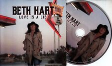 BETH HART Love Is A Lie 2016 Dutch 1-track promo CD