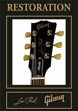 PEGATINA AUTOCOLLANT ADESIVI STICKER DECAL  GIBSON LES PAUL  RESTORATION