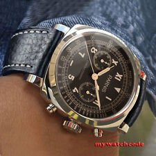 gorgeous 44mm Parnis coffee dial full solid case Chronograph quartz mens watch