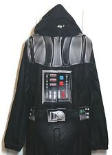 STAR WARS Darth Vader Costume Adult Medium Fleece Pajamas One Piece Union Suit