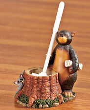 Nature Calls Outhouse Bathroom Collection TOILET BRUSH with HOLDER Bear Moose