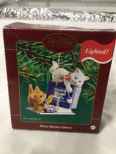 "Carlton Cards ""Merry Mischief Makers"" Kittens-2003-Christmas Ornament-Lighted"