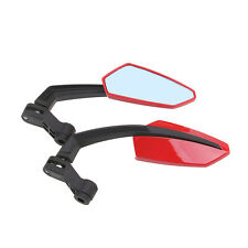 A Pair Motorbike Handlebar End Rear View Mirror 10&8MM For Honda Yamaha Choppers