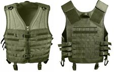 Olive Drab Green Military M.O.L.L.E Tactical MOLLE Modular Assault Vest 5405