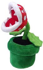 Super Mario Piranha Pianta Peluche 8in - Nuovo Bambola Giocattolo Nintendo LF