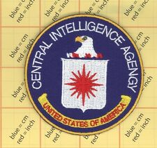 CIA Seal Embroidered Iron on Patch Police TOP QUALITY Centarl inteligence Agency