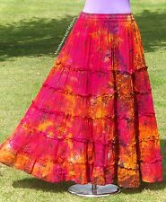 BEAUTIFUL NEW TIE DYE SKIRT UK SIZE 10 12 14 16 HIPPIE BOHO GYPSY DRESS BOHEMIAN