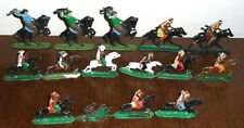 Collection of 16 antique hand painted solid lead Cowboys & Indians