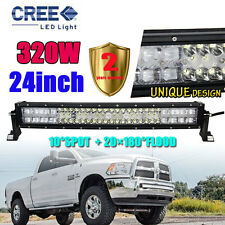 CURVED 320W 24INCH CREE LED Combo Work Light Bar Offroad Driving Lamp 4WD 23/22""