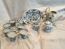 J & G Meakin Blue Nordic Classic Blue/White Tea Set Vintage Made in England +1