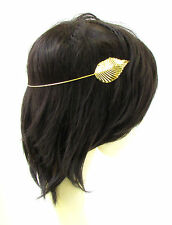 Gold Leaf Headband Headpiece Cuff Grecian Boho Vine Hair Laurel Roman Vtg 957
