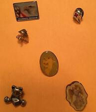 VINTAGE JEWELRY FROM ESTATE SALE 6 PIN/BROOCHES GREAT VARIETY FIRSTAID BEAR #J25