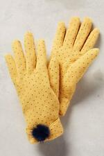 New Anthropologie Clasina Gloves Yellow One Size NIP