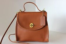 Vintage COACH British Tan REGINA CROSS BODY SHOULDER BAG HANDBAG PURSE 9983 FAB