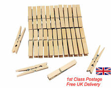 50 Wooden clothes pegs washing line airer dry line wood peg gardens High Quality