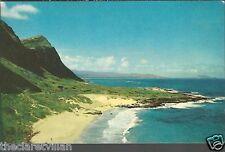 Makapuu Beach & Windward Oahu  Hawaii c1956 Unposted Postcard