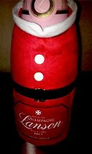 LANSON  SANTA CLAUS CHAMPAGNE  BOTTLE COVER CHILLER NEW NO CHAMPAGNE INCLUDED