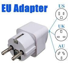 Portable UK US AU to EU European 2PIN Power Socket Plug Adapter Travel Converter