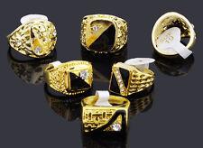 Men's gold fashion  ring - size 18mm