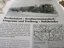 Neben - Schmalspurbahnen 10 Sachsen Bertelsdorf Langenau Halsbrücke 8 S