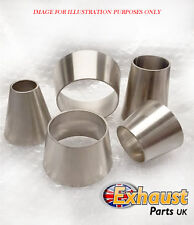 """Stainless Steel  2.5"""" to 1.5""""  Cone 63.5 mm x 38 mm Joint Reducer Custom Exhaust"""