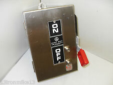 NEW GE TH3221SS 30-Amp STAINLESS SAFETY DISCONNECT SWITCH 30A 240Vac  2-Pole