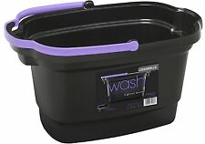 Casabella 4-Gallon Rectangular Bucket, Black (62470) [Great way to store] NEW