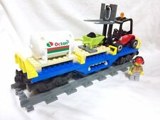 Lego Train City Blue Cargo Train Oil Car + Figure 60052/60098/7939/3677 Mint