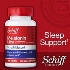 Schiff Melatonin Ultra 3 mg Sleep Aid Pills 365 Tablets