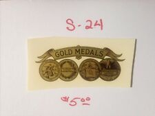 """GOLD MEDALS ANTIQUE SCALE & COIN MACHINE DECAL  #S-24 SMALL 3 1/4"""" GOLD MEDALS"""