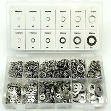 790pc Flat Spring Washers Stainless Steel Rust Free Resistant Assorted