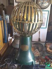 VINTAGE 1925 Vertical Spherical WORKING Savory Airator Banker's ELECTRIC Fan