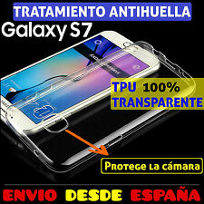 FUNDA TPU DE GEL SILICONA TRANSPARENTE PARA SAMSUNG GALAXY S7 CARCASA PLASTICO