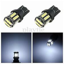 2x Pure White T10 W5W 7020 SMD 10 LED Wedge Tail Side Car Lights Turn Bulb 12V