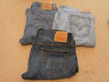 lot of 3 Levi Blue Denim Jeans 34 x 32 and 34 x 34 red tab 569 517 loose boot