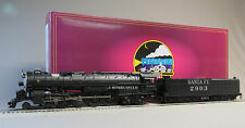 MTH PREMIER SANTA FE 4-8-4 STEAM ENGINE TENDER PROTO 3 HI RAIL O GAUGE 20-3668-1