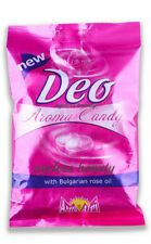DEO PERFUME CANDY EDIBLE DEODORANT ROSE FRAGRANCE HARD SWEET TREAT CONFECTIONERY